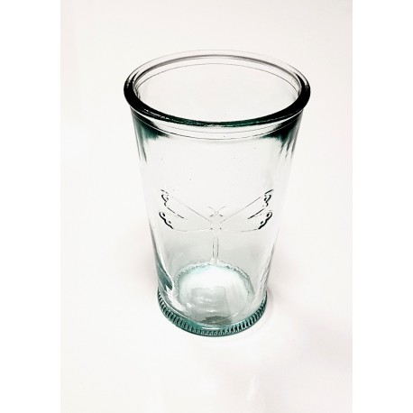 3 glasses in recycled glass