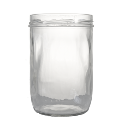 Lot de 6 bocaux TERRINE 850 ml, capsule TO 100 mm comprise