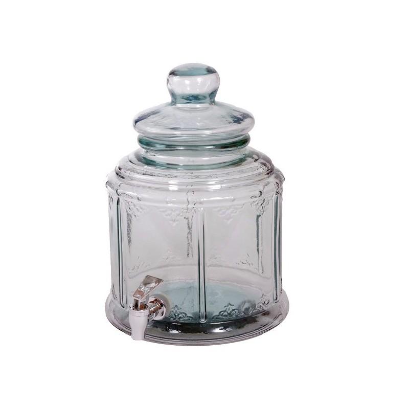 bonbonne 6 litres bohemian couv verre haut 32 cm avec robinet. Black Bedroom Furniture Sets. Home Design Ideas