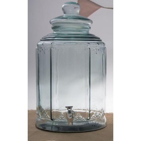 Bonbonne Bohemian 13,5 litres couv. en verre haut. 45 cm et robinet