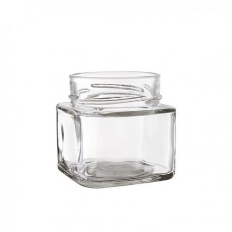 Lot de 24 bocaux TAO carrés avec capsule Deep argent TO 58