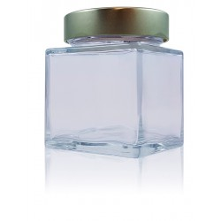 12 Square jars SHENTE 314 ml with capsule Deep Ø 76 mm not included