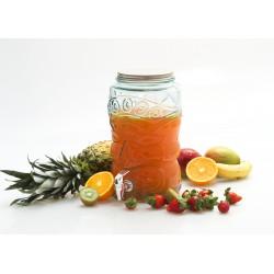 """Bonbonne """" Tiki """", 6 litres, en verre 100% recyclé, et couvercle à visser"""