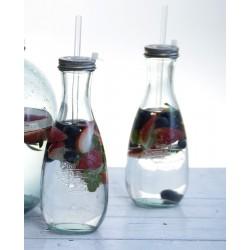 Bouteille botella est. 1896, 570 ml avec paille haut 22 cm
