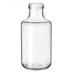 6 BLANCA glass bottles 500 ml, with screw cap TO 43 mm included
