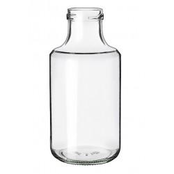 6 botellas de vidrio BLANCA de 500 ml, con tapón de rosca A 43 mm incluido