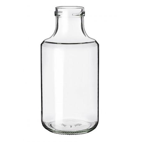 6 Bouteilles en verre BLANCA 500 ml, avec capsule à visser TO 43 mm incluses