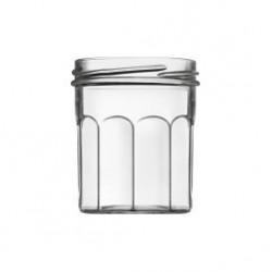 Set von 6 Gläsern mit Marmelade Classic Haushalt 200 ml mit Kapseln enthalten TO 70 mm
