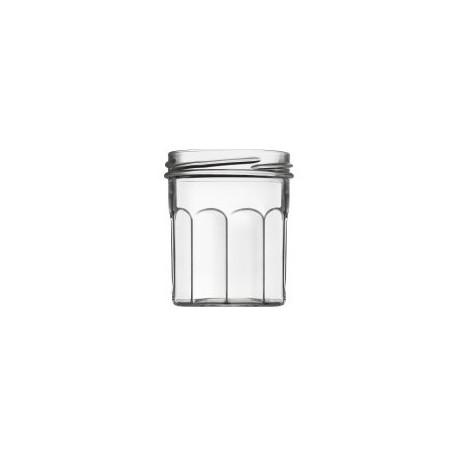 """Lot de 6 Bocaux à confiture Classic Ménage 200 ml avec capsules comprises (type """"Bonne Maman"""")"""