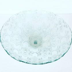 Grand saladier cuenco estrellas, motifs étoiles dimensions 10 x 40 cm, en verre 100% recyclé