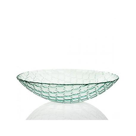 Saladier cuenco Trebol motif trèfles 10 x 40 cm, en verre 100% recyclé