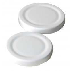 100 caps TO 58 mm White color for sterilization