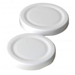 100 capsule TO 58 mm colore bianco per la sterilizzazione