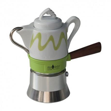 Machine à café italienne TOP MOKA, modèle GOCCIA Verte