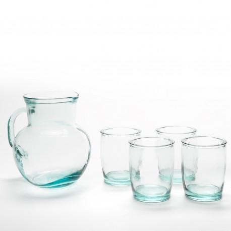 Set pour sangria 5 pieces verres + carafe