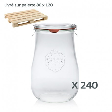 Bocal weck® corolle® 1750 ml ø 100 + couvercle et joint (palette)