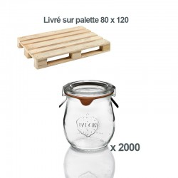 2000 vasi WECK® Corolle® 220 ml con coperchi e guarnizioni (graffe non incluse)
