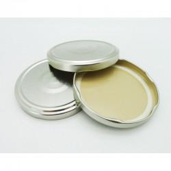 100 capsule TO 100 mm colore argento per la sterilizzazione