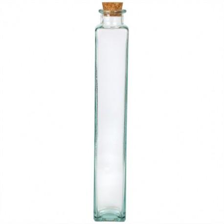 6 Bouteilles Malva transparentes, 500 ml, bouchon en liège