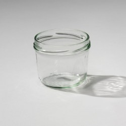 6 Bocales en vidrio TARRO con cápsula metálica, capacidad 240 ml cápsula incluida
