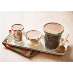 Rubberwood lid for WECK jars diam. 60 mm, with silicone seal