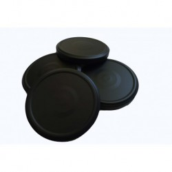 100 caps TO 100 mm Black  for pasteurization