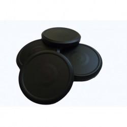 100 capsule TO 100 mm colore nero per la pastorizzazione