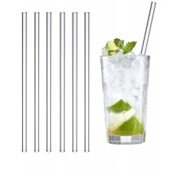 Set of 6 glass straws reusable and washable for life!