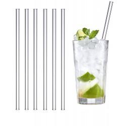Set van 6 glazen rietjes voor het leven herbruikbaar en wasbaar!
