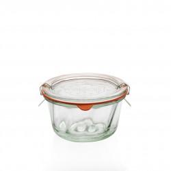 6 glazen in glas Weck® Kougelhopf 280 ml, doorsnede 100 mm met deksels in glas en verbindingsstukken (niet ingesloten clips)