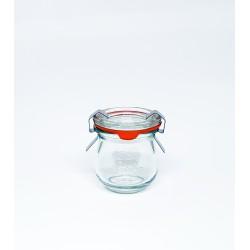 12 vasi in vetro WECK® Corolle® 220 ml con coperchi e guarnizioni (graffe non incluse)