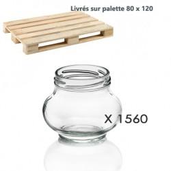 1 palette de 1560 Bocaux Weck® Fête® 235 ml avec capsule comprise ø 63 mm (sur palette europe)