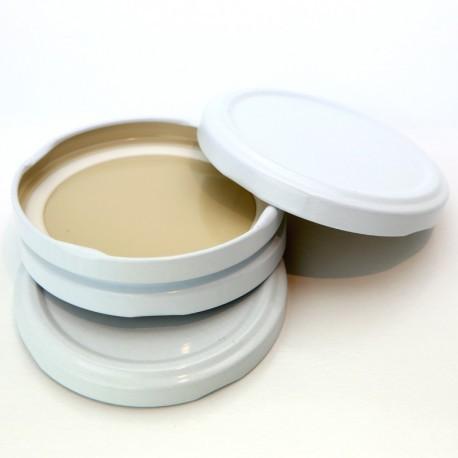 100 capsule TO 70 mm bianchi per la sterilizzazione