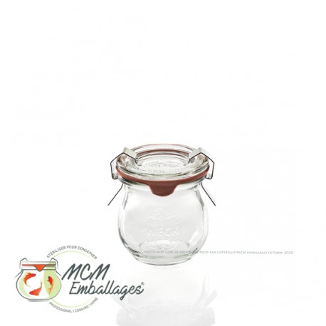 12 glass jars WECK® Corolle® 220 ml with lids and rubber rings (clips not included)