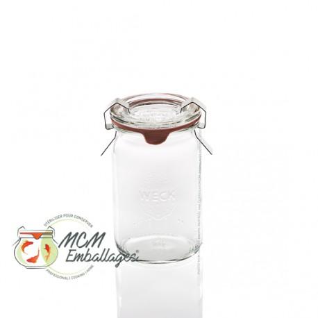 12 bocaux en verre Mini WECK® TUBES® 145 ml avec couvercles en verre et joints diam. 40 (clips non inclus)