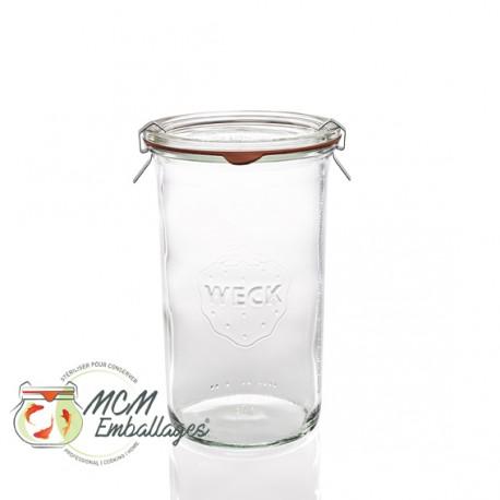 Bocal weck® droit 1550 ml avec couvercle et joint ø 100