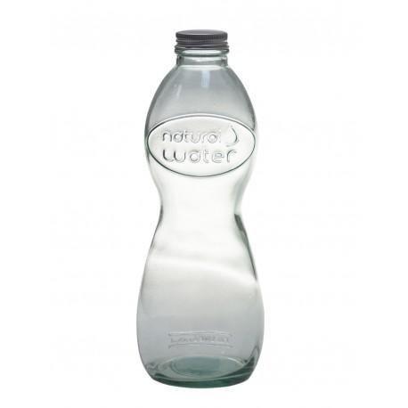 """Bouteille en verre style """"Eau Minérale"""", 700 ml avec capsule mécanique (type limonade)"""