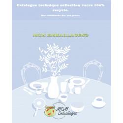 Catalogue produits en verre 100% recyclé (sur commande dès 300 pièces)