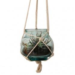 Vase/ lanterne / terrarium suspendu HURRICANE Florero haut 18 cm diam. 20 cm