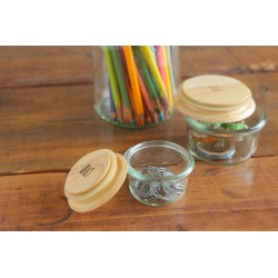 WITH WECK FLAT TOP WOODEN LID size S (diam. 60 mm)