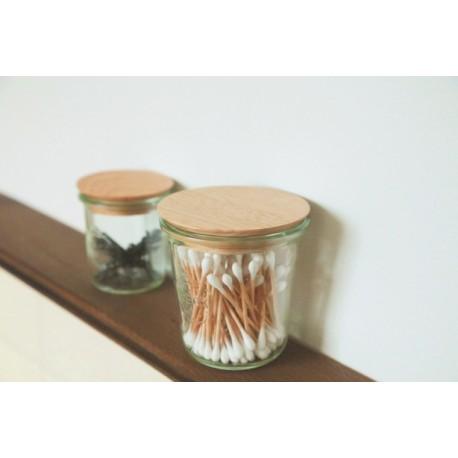 Couvercle en bois pour bocal WECK diamètre 60 mm (taille S)