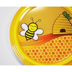 Capsules pasteurisables TO 82 MM motif Abeille rieuse et ruche