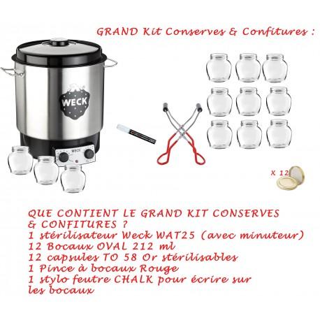 GRAND KIT CONFITURES ET CONSERVES :