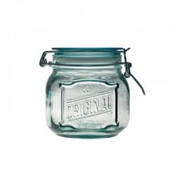 Bocal Klik en verre 1100ml ,100% recyclé, avec capsule mécanique