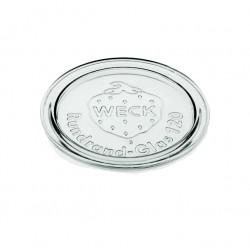 6 glass lids for Weck jars diameter 120 mm