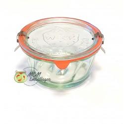 6 vasi in vetro WECK Kougelhopf 280 ml, diametro 100 mm con coperchi in vetro e guarnizioni (graffe non incluse)