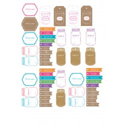 Planche d'étiquettes pour bocaux gratuites à télécharger