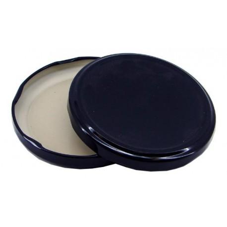 100 lids for glass jars diameter 48 mm black color
