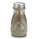1 Salière/Poivrière en verre recyclé avec couvercle troué en inox