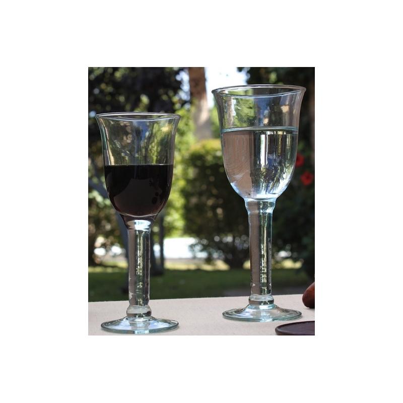 lot de 6 verres pied copa caliz 225 ml verres vin mcm emballages. Black Bedroom Furniture Sets. Home Design Ideas